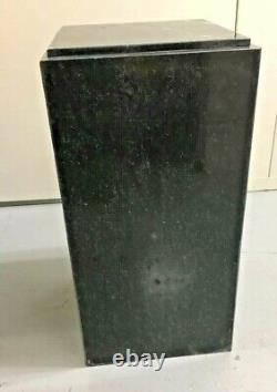 Vtg Mid Century Modern Pedestal Marble Dark Green Verde Worlds Best Marble