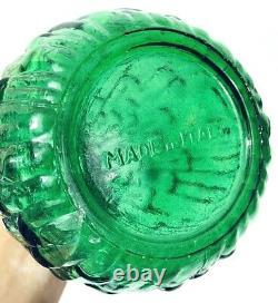 Wax Drip Decanter Large Green 22 Vintage Italian Genie Bottle Glass Décor