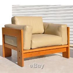 2 MID Century Moderne Tobia Scarpa Bastiano Chaises Nouvellement Restaurées (mr10454)