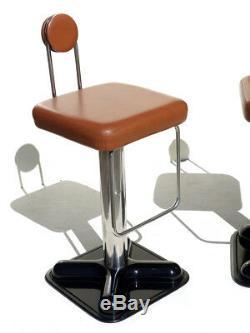 2 Tabourets Birillo Joe Colombo Pour Le Vintage Design Zanotta Bistrò Années 70 D'origine