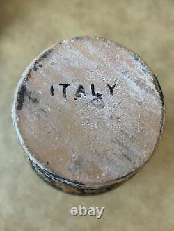 3 Vintage Mid-century Bitossi Raymor Art Italien Pottery Lava Glaze Vases Group