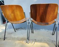 4 Chaises Modernes Italiennes Dsc 106 De Giancarlo Piretti Pour Castelli
