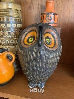 Aldo Londi Bitossi Owl Tirelire Vintage Italian 1960 MID Century Rare Stylisé