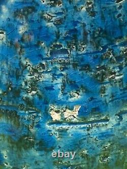 Aldo Londi Bitossi Rimini Bleu Italien Modernisme Pingouin Potier