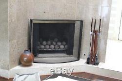 Alessandro Albrizzi Vtg MID Century Moderne Chrome Rosewood Outils Serviteur De Cheminée