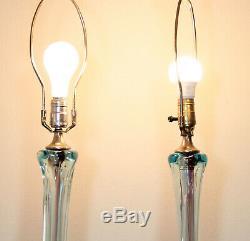 Au Milieu Du Siècle Moderne Murano Sommerso Lampe En Verre Par Archimede Seguso Vintage