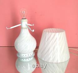 Belle Lampe De Table De Champignon Zonca Tourbillon Murano Verre Lampada Vintage 70 U