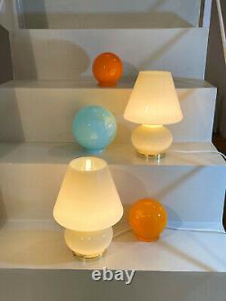 Belles Lampes Aux Champignons Jaunes Soufflé Murano Verre Lampada Fungo Vintage Années 60