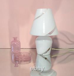 Belles Lampes Aux Champignons Soufflé Murano Tourbillon En Verre Lampada Fungo Vintage Années 70 U