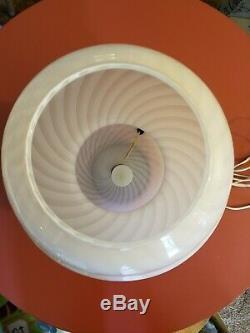 Big Murano Italie Vetri MID Century Moderne Rose Swirl Verre Champignon Lampe De Table