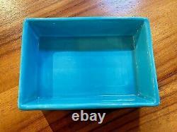 Bitossi Bagni Londi Raymor Vtg MID Century Modern Rimini Blue Pottery Box Italie