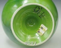 Énorme 16 Raymor Mancioli MID Century Italie Apothecary Jar Vase Urn Vert Lime