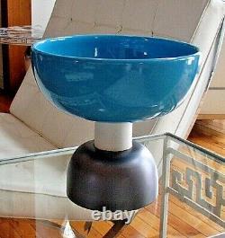 Ettore Sottsass Vase Bowl Large Alzata 543 Pottery Bitossi Memphis Fabriqué En Italie