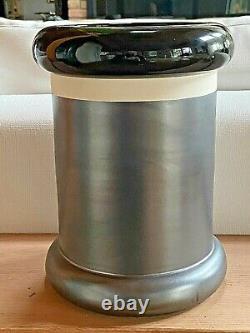 Ettore Sottsass Vase Large Nero Ossidante 547 Bitossi Memphis Fabriqué En Italie