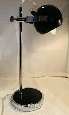 Eyeball Metal Table-desk Lamp / Targetti Sankey Style / Orbe Atomique Vintage