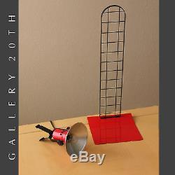 Fab! MID Century Modern Rouge Lampe De Bureau! Éclairage Italien Stilnovo Vtg 80 Atomique