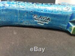 Flavia-montelupo-italie-aldo Londi-bitossi Turquoise Bleu Glacé Chat Figurine