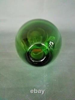 Flavio Poli Seguso Murano Sommerso Vert / Ambre Couleur Italienne Art Glass Circa1950