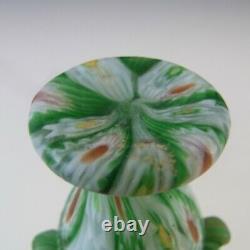 Fratelli Toso Millefiori Murano Canes Vase En Verre Vert