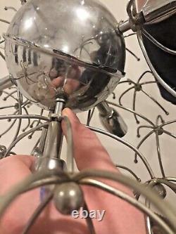 Gaetano Sciolari Sputnik Ball Pendentif Lampe Vintage Chrome Dandelion 1960 MCM