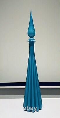 Genie Bottle Empoli Carafe En Verre Casé Énorme 80cm De Haut