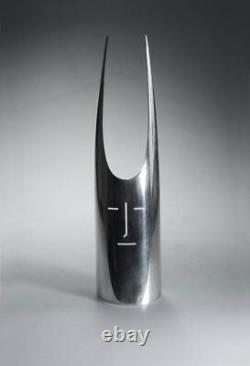 Gio Ponti Sabattini 70s Design Masque Métal Argenté Fabriqué En Italie