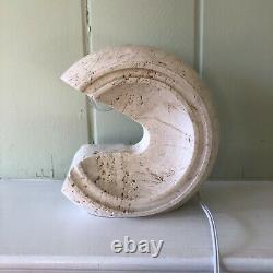 Giuliano Cesari Pour Nucleo Sormani Sculptural Travertin Lampe De Table Italie Moderne
