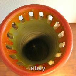 Grand Vase De Poterie D'art Brutaliste Alvino Bagni Pour L'ère Bitossi De Raymor Dans Les Années 1970
