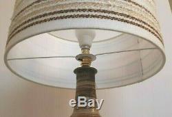 Grande Lampe Vintage Base Retro Studio De Poterie Italienne Raymor / Bitossi & Shade