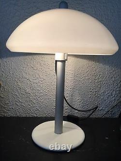 Harvey Iguzzini Vintage Table Lamp MID Century Light Italian Design Mushroom Ovni
