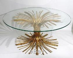 Hollywood Regency MID Siècle Italien D'oro Ble Sheaf Café 1950 Table