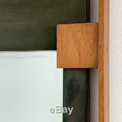 Ico Parisi Teck Vert Suede Mur Miroir Italien Milieu Du Siècle Moderne Gio Ponti