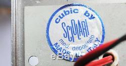 Italien Gaetano Sciolari Années 1970 Cubic Chandelier Milieu Du Siècle Original Vintage