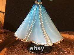 Italien Murano Glass Courtesan Figurine Hommes Et Femmes Chiffres Bleus Hommes A/ F