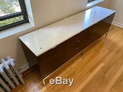 Knoll Rosewood & Italian Carrara Marble-top Bahut Dresser