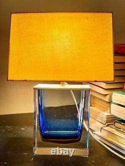 Lampe De Table En Verre De Murano Signée Par Paolo Venini Dans Les Années 1950