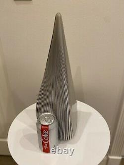 Lampe De Table Vetri Murano, Pyramide En Verre À Rayures Fines Triangle