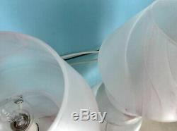 Lampes Belle Lumière Champignon Rose Verre De Murano Lampade Fungo 80 Vintage