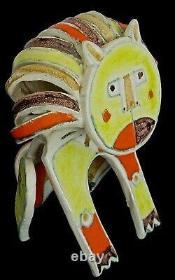 Lion Sculpture Par Fantastical Guido Gambone
