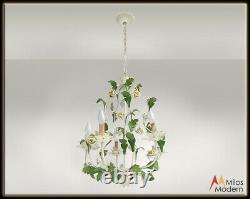 Lustre Italien De Lampe De Plafond D'émail Des Années 60 Du Milieu Du Siècle