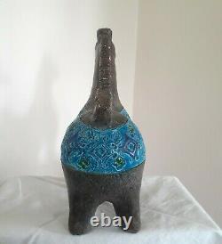 MCM Italien Pottery Horse Classic Bittosi Bleu 10 25cm Tall Italie Vintage
