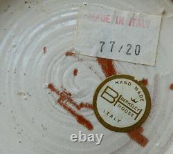 MCM Vase De Poterie Italienne Rare Bitossi Aldo Londi Berkeley House Shore Birds 12