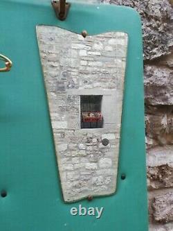 MID Century Italien Paolo Buffa Mur Coat Rack Laiton & Miroir Italie 1950s
