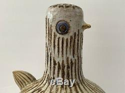 MID Century Modern Bitossi Raymor Aldo Londi Italie Poterie Sculpture Oiseau