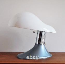 MID Century Modern Italian Space Age Vintage Plastic Cobra Lampe De Table