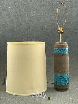 MID Century Modern Italien Pottery Bitossi Moresco Aldo Londi Lampe De Table