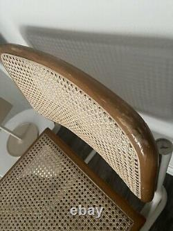 MID Century Modern Marcel Breuer Style Cane Cesca Cantilever Chaise Vintage