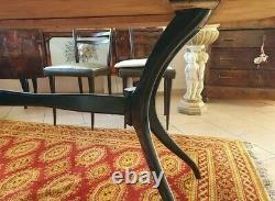 MID Century Sculptural Ico Parisi Dining Table 6 Chaises Acajou Italie Années 1950