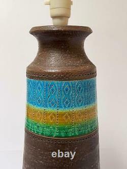 Massive Vintage Bitossi Potterie Italienne Lampe MID Siècle Aldo Londi