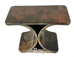 Mi-siècle Italienne Moderne Goatskin Table Par Aldo Tura